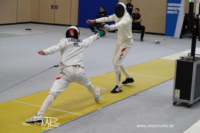 32er Tableau - SZENYI Peter (HUN, MTK) vs PEREIRA Yulen (ESP);Heidenheimer Pokal (World Cup Epee Men Senior)